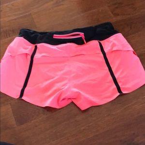 Pink lulu lemon runner shorts